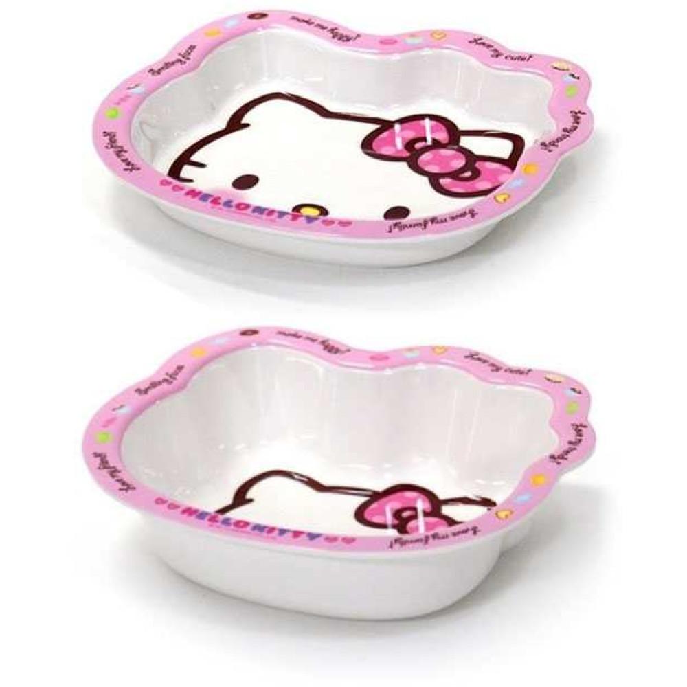 Bộ đôi bát đĩa ăn cho bé Lock&lock Hello Kitty LKT468S2
