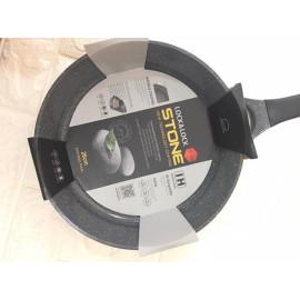 Chảo vân đá chống dính Lock&Lock Stone 26cm LCA6263D dùng bếp từ