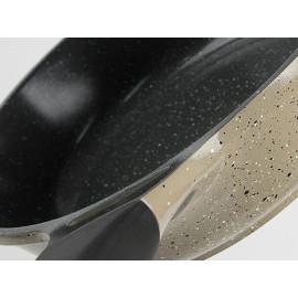 Chảo đá cao cấp 30cm vung kính Lock&lock Stone LCA6305D dùng bếp từ