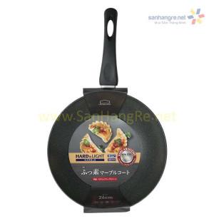 Chảo nhôm sâu lòng siêu chống dính Cookplus Hard&Light Marble LHB9265-IH 26cm
