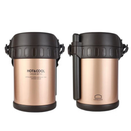 Bộ hộp cơm giữ nhiệt Inox 304 kèm đũa Vacuum Lunch Lock&Lock LHC6170FU hàng chính hãng