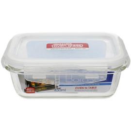 Bộ 5 hộp thủy tinh chịu nhiệt chữ nhật 430ml Lock&lock LLG424