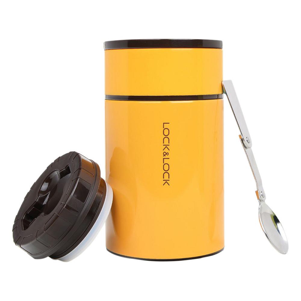 Bình giữ nhiệt Inox 304 đựng thức ăn Food Jar Lock&Lock LHC8022 750ml cam