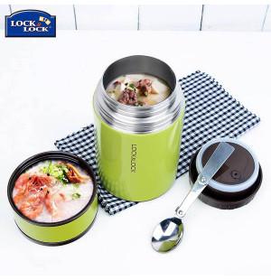 Bình giữ nhiệt Inox 304 đựng thức ăn Food Jar Lock&Lock LHC8022 750ml xanh lá
