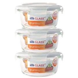 Bộ túi giữ nhiệt Glasslock và 3 hộp thủy tinh Lock&Lock Oven Glass 380ml