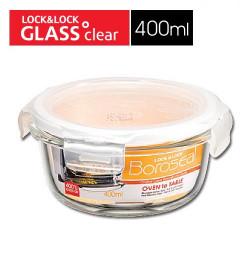 Hộp thủy tinh tròn chịu nhiệt cao Lock&Lock LLG822 400ml