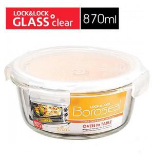 Hộp thủy tinh tròn chịu nhiệt Lock&lock Oven Glass 870ml LLG855