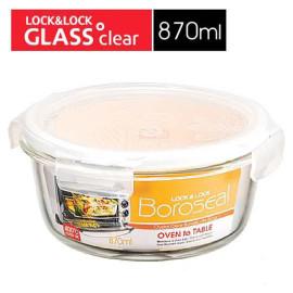 Bộ 3 hộp thủy tinh tròn chịu nhiệt Lock&lock Oven Glass 870ml LLG855