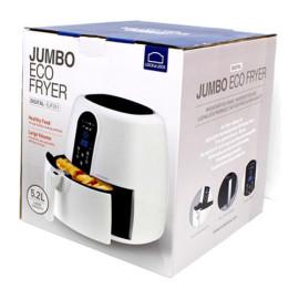 Nồi chiên không dầu điện tử Lock&Lock Jumbo EJF351WHT 1800W 5,2L màu trắng, hàng chính hãng bảo hành 12 tháng