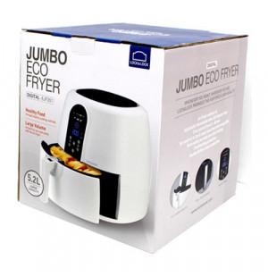 Nồi chiên không dầu điện tử Lock&Lock Jumbo EJF351WHT 1800W 5,2L màu trắng