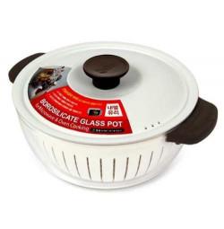 Nồi thủy tinh dùng lò vi sóng Lock&lock 2.2L LLG545BW (kèm rổ nhựa 20cm)