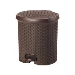 Giỏ đựng rác Hobby Life Lock&lock 3L có đạp chân THB312BR màu nâu