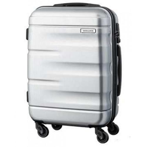 Vali kéo có khóa số du lịch Lock&Lock Zoom Carrier LTZ920STSA 20inch - Màu bạc