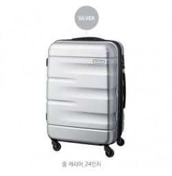 Vali kéo du lịch có khóa số Lock&Lock Zoom Carrier LTZ924STSA 24 inch - Màu bạc