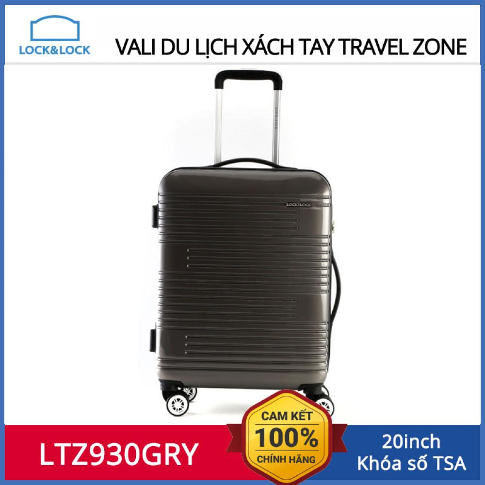 Vali xách tay du lịch Lock&Lock Colorfull Carrier LTZ930GRY 20inch - Hàng chính hãng