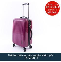 Vali kéo có khóa số du lịch Lock&Lock Travel Zone LTZ994RTSA 20 inch - Màu đỏ