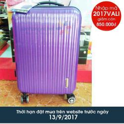 Vali kéo có khóa số du lịch Lock&Lock Travel Zone LTZ994DPTSA 20 inch - Màu hồng thẫm