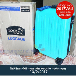 Vali du lịch xách tay có khóa số Lock&Lock Travel Zone LTZ615GNSS 20inch - Xanh ngọc