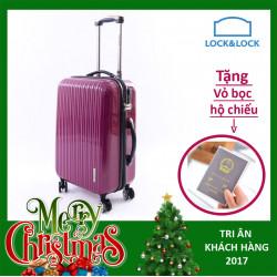 Vali kéo có khóa số du lịch Lock&Lock Samsung Travel Zone LTZ994RTSA 20 inch - Màu đỏ