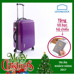 Vali kéo có khóa số du lịch Lock&Lock Samsung Travel Zone LTZ994DPTSA 20 inch - Màu hồng tím