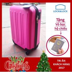 Vali du lịch xách tay có khóa số Lock&Lock Samsung Travel Zone LTZ615PKSS 20inch - Màu hồng