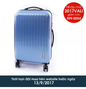 Vali kéo có khóa số du lịch Lock&Lock Travel Zone LTZ994RTSA 20inch - Màu xanh