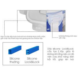 Bộ Túi Giữ Nhiệt 3 Hộp Cơm Thuỷ Tinh Chịu Nhiệt Lock&Lock LLG426S3