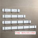 Móc Inox 304 Dính Tường Treo Quần Áo Mengni MNGG-0176 (6 Móc)