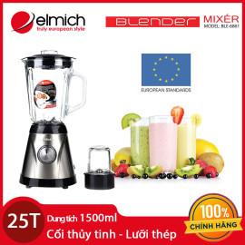Máy xay sinh tố cối thủy tinh Blender Elmich BLE-6861 chính hãng CH Séc, bảo hành 25 tháng