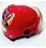 Mũ bảo hiểm thời trang có kính cho trẻ em MH - Đỏ