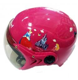 Mũ bảo hiểm thời trang có kính cho trẻ em MH - Hồng