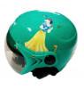 Mũ bảo hiểm thời trang có kính cho trẻ em MH - Xanh