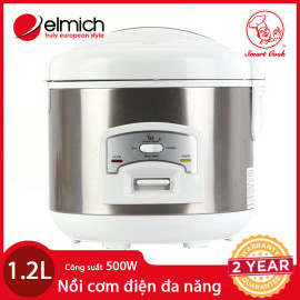 Nồi Cơm Điện Đa Năng Elmich SmartCook EL7166 dung tích 1.2L chính hãng, bảo hành 25 tháng