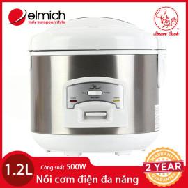 Nồi Cơm Điện Đa Năng Elmich SmartCook EL7166 dung tích 1.2L chính hãng, bảo hành 25 tháng
