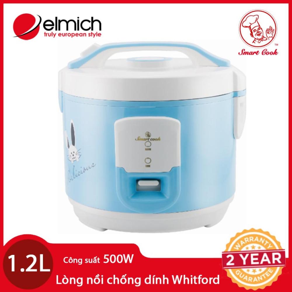 Nồi cơm điện Elmich Smartcook 1,2 LÍT RCS-1793 xanh hàng chính hãng, bảo hành 12 tháng