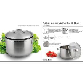 Nồi luộc gà Inox 430 Fivestar 32cm dùng bếp từ