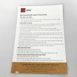 Nồi 3 Đáy Sandwich Inox 430 Fivestar 20cm Dùng Cho Bếp Từ FSN20