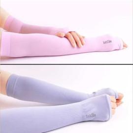 Ống tay chống nắng xỏ ngón Let's Slim Hàn Quốc (màu ngẫu nhiên)