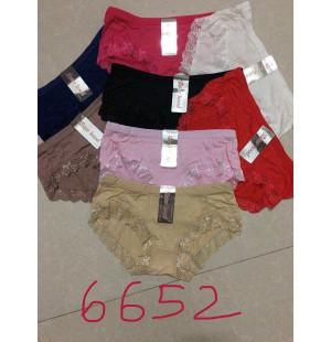 Bộ 12 quần lót nữ cotton phối ren viền SH6652
