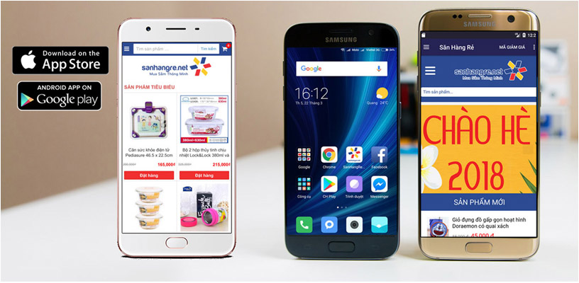 Tải APP SanHangRe trên Appstore iOS và Google Play tặng mã giảm giá 5%