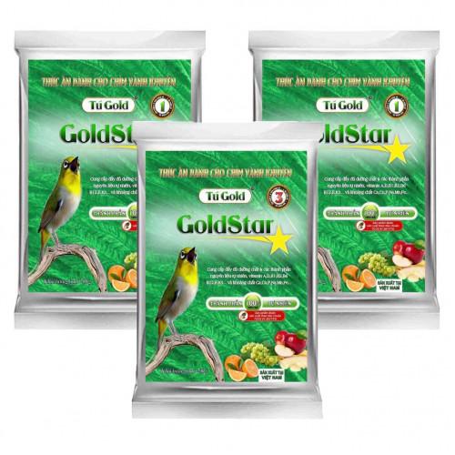 Combo 3 cám chim Gold Star đỗ xanh số 1, 2 và 3 - Gói 100 gram