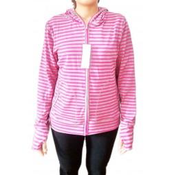 Áo chống nắng Cotton Uniqlo kẻ ngang hồng