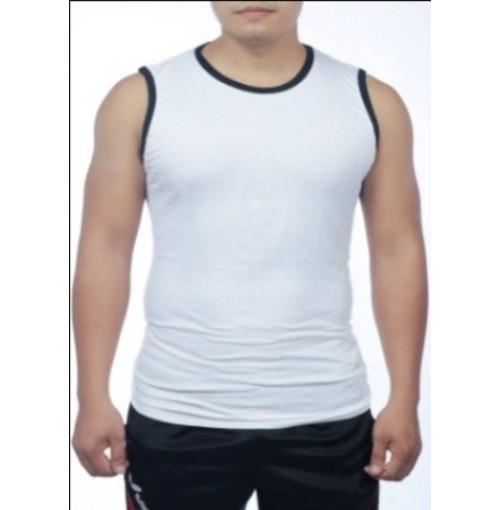 Áo lót Estini sợi tre màu trắng viền đen