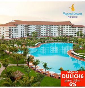 Voucher Nghỉ Dưỡng 2N1Đ phòng Deluxe Garden View + Ăn Sáng tại Vinpearl Phú Quốc Resort 5 Sao