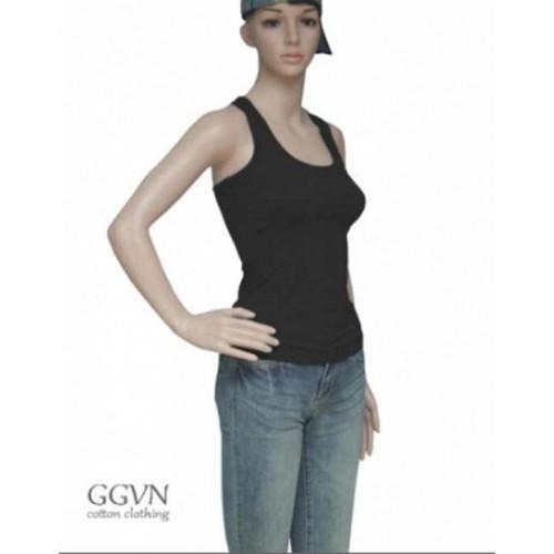 Áo tập yoga ba lỗ màu đen