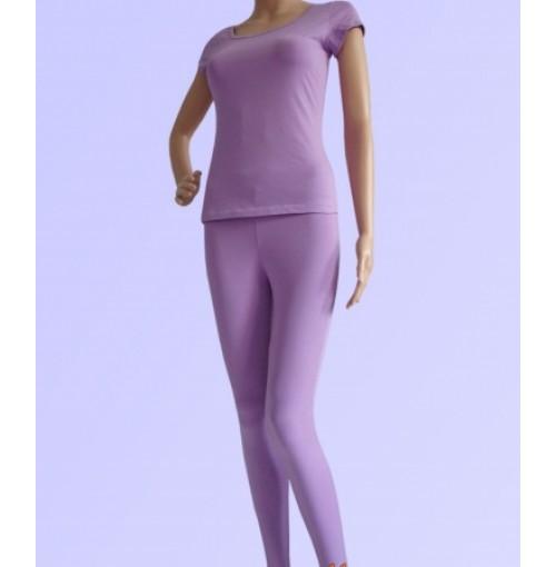 Bộ tập yoga áo có tay quần dài ( màu tím szS)