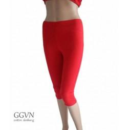Quần tập yoga dáng lửng màu đỏ