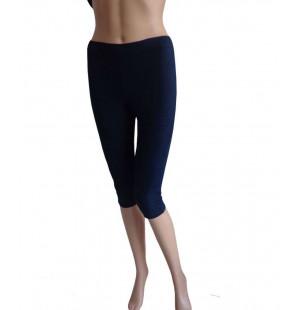 Quần tập yoga dáng lửng màu xanh đen