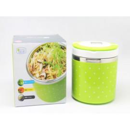 Hộp đựng cơm giữ nhiệt Lunch Box 630ml có quai xách (mẫu ngâu nhiên)