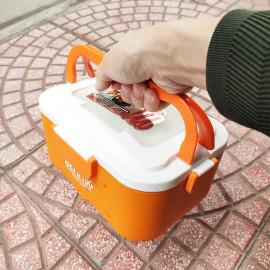 Hộp cơm hâm nóng ruột Inox 304 cắm điện Bennix Thái Lan BN-88I bảo hành 24 tháng kèm túi xách màu cam